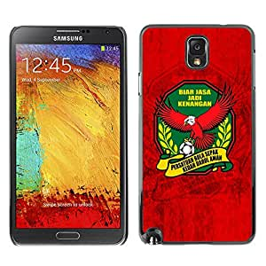 MOBMART Carcasa Funda Case Cover Armor Shell PARA Samsung Note 3 N9000 - Greatness Of Soccer Symbol