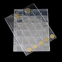 LZWIN 30 tasche plastica moneta titolari stoccaggio collette album caso timbro moneta protettore inserisci pagina fogli titolare (confezione da 10)