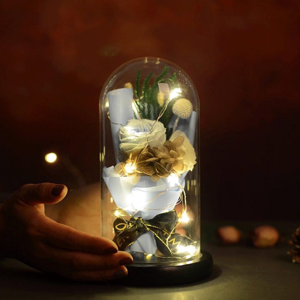 花を守り、永遠の花を守り、家の装飾を変え、光で花を守る永遠の花願い事の瓶装飾的な贈り物 (色 : 3#) B07DCTV6W4 3# 3#