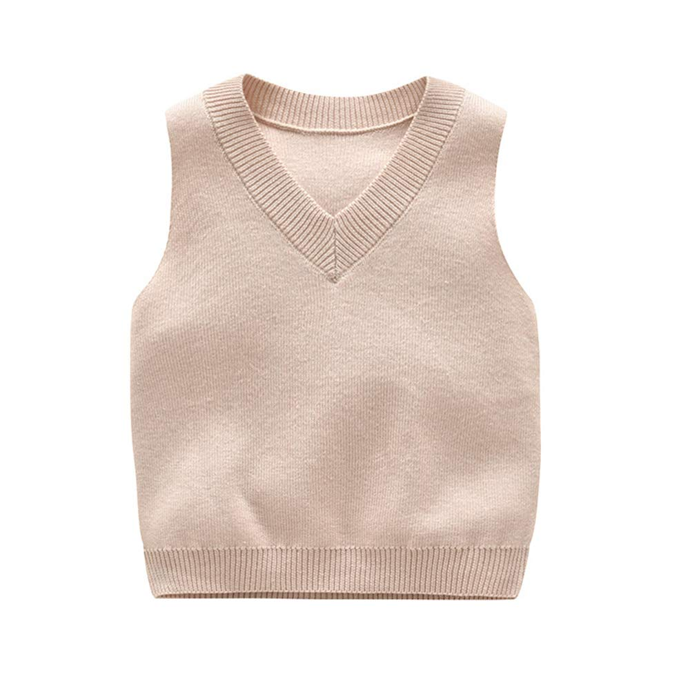 Anbaby Little Boys Knit Sweater Vest Kids V-Neck Students Pullover
