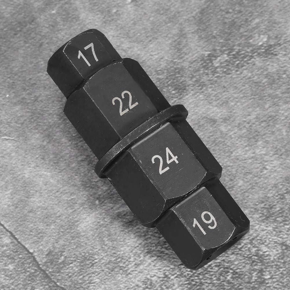 Hlyjoon Chiave dinamometrica Moto Anteriore Ruota Posteriore Adattatore per mandrino Mandrino Attrezzo di azionamento Assale Esagonale 17 22 24 e 19mm