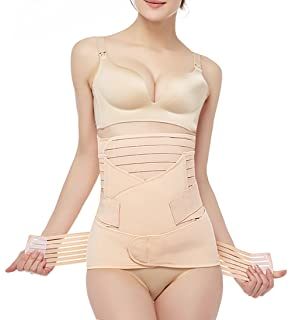 7caa579aa9 Gepoetry 3 In 1 Postpartum Support - Recovery Belly Wrap Girdle Support  Band Belt Body Shaper