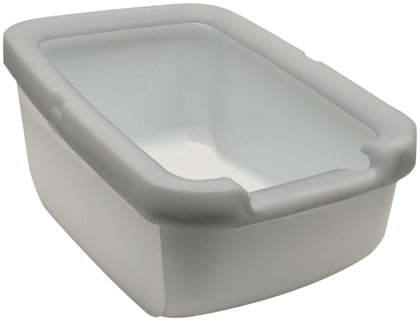 Catit Cat Litter Pan with Rim, Taupe by Catit