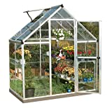Palram Nature Series Harmony Hobby Greenhouse - 6 x 4 x 7 Silver