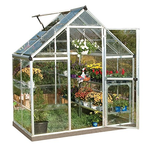 Palram Nature Series Harmony Hobby Greenhouse - 6 x 4 x 7 Silver by Palram
