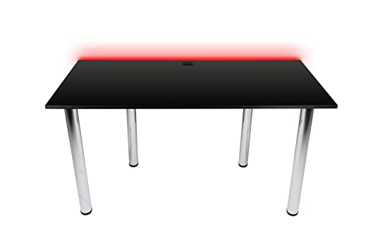 Victory Gaming Essentials - Mesa de Juegos, Color Negro, LED RGB ...