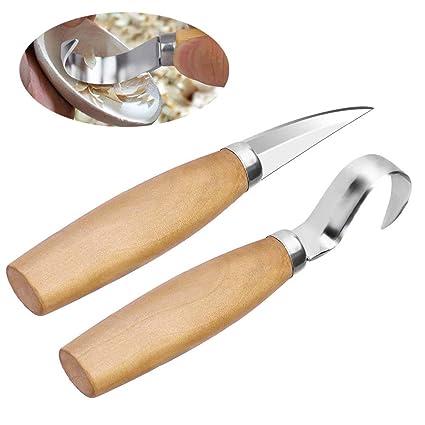 fortspang - Juego de 2 Cuchillos de Madera para tallar ...