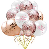 15 Pcs Rose Gold Bride To Be Latex Balloon Confetti Hen Bachelorette Party Baloons Wedding Decoration Team Bridal Shower Favors