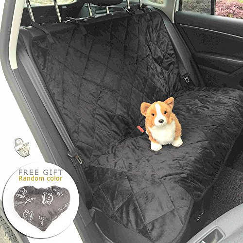 Dog Water Resistant Blanket - Dog Seat Cover, Pawow Pet Car Travel Backseat Protection Cover, Quilted, Water Resistant, and Machine Washable, Black