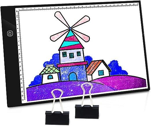 PullPritt A4 Mesas de luz Lightpad Tablero de Dibujo Ultra Delgado ...