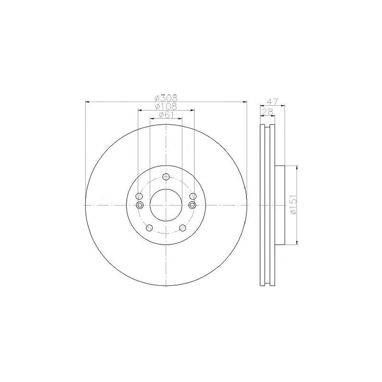 MDC1879 Brake Disc Front Axle