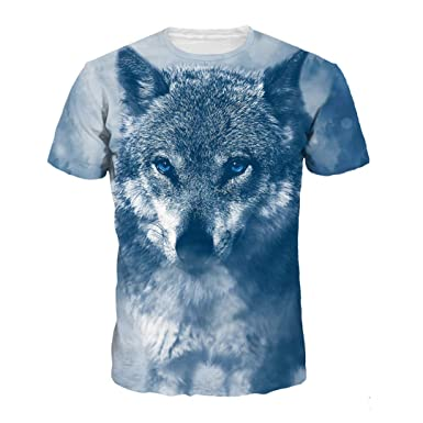 100% authentic 44995 2e517 Stampa 3D Wolf T Shirt Uomo Estate Arrivo Funny Animal ...