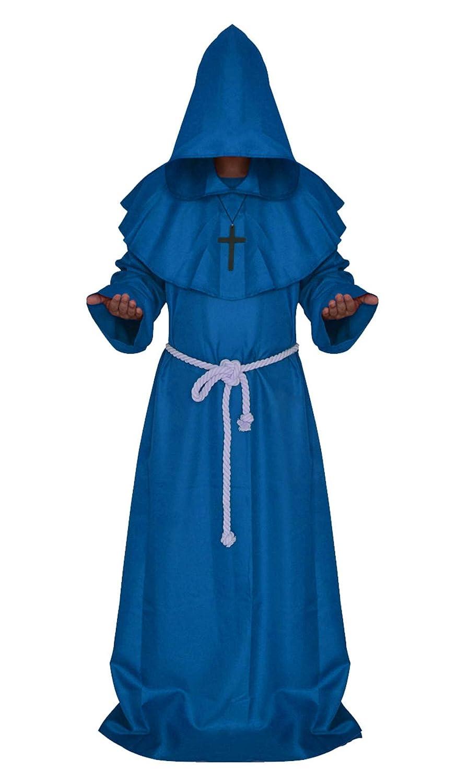 Costume da Monaco Medievale con Cappuccio ULEEMARK Costume per Halloween