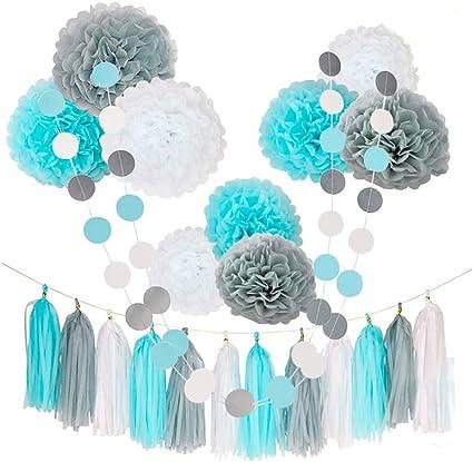 Amazon.com: CHOTIKA 23 piezas de flores de seda pompones de ...