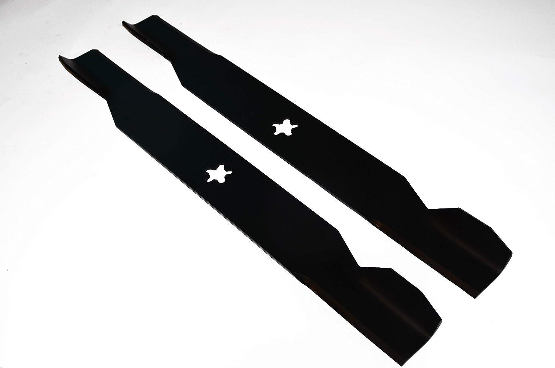 '2x 46cm (36) tráctor Juego de cuchillos para AYP, Husqvarna, Roper, PARTNER, Viking, Elektrolux, MC Culloch con orificio de 5de estrella perfektGarten