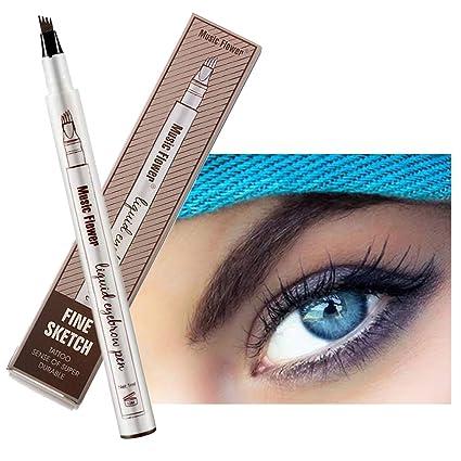 Pluma de tatuaje de cejas para lápiz de maquillaje de ojos con un ...
