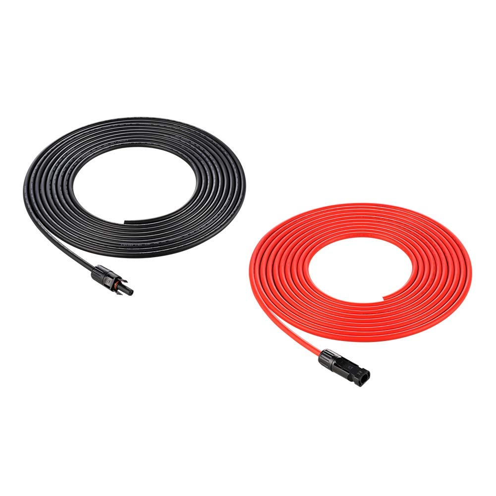 Richsolar 20 Feet 10 Gauge Solar Extension Cable One Pair