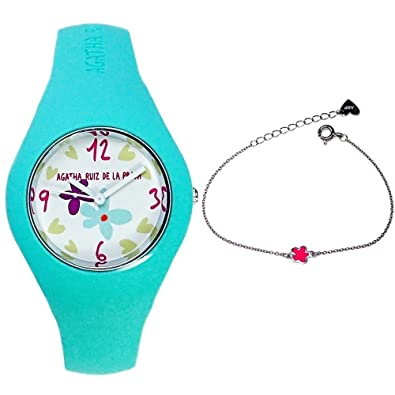 Juego Agatha Ruiz de la Prada reloj AGR225 pulsera plata niña [AB6028] - Modelo: AGR225: Amazon.es: Joyería