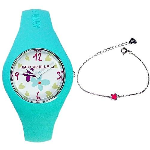 Juego Agatha Ruiz de la Prada reloj AGR225 pulsera plata niña [AB6028] - Modelo: AGR225