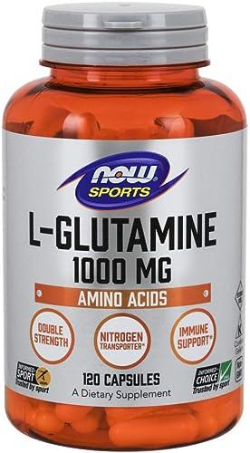NOW Foods L-Glutamine 1,000 Milligram, 120 Capsules