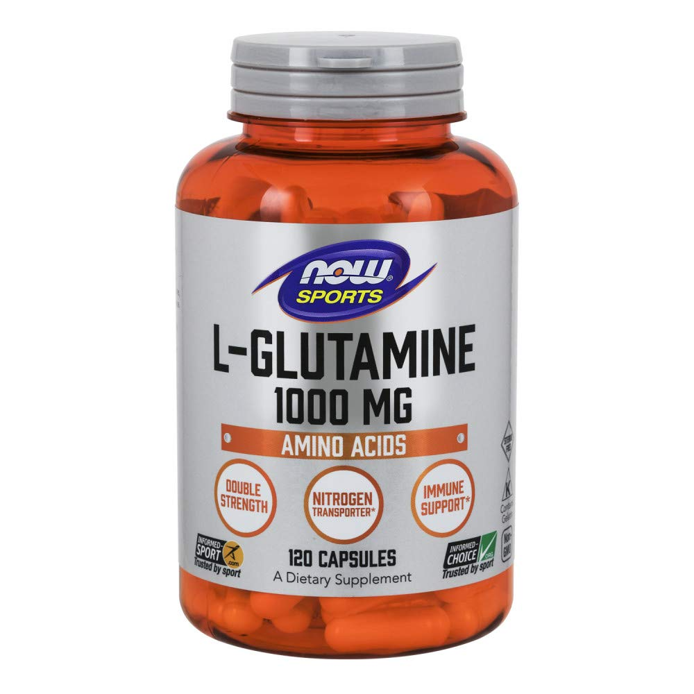 NOW Sports Nutrition, L-Glutamine, Double Strength 1000 mg, 120 Capsules by NOW Foods