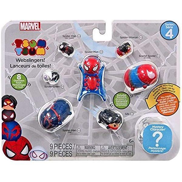 Marvel Tsum Tsum 3 Pack Series 1 Black Cat Spider Man Winter Soldier Figure New