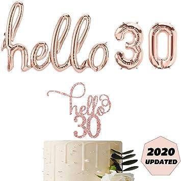 Amazon.com: Globos de oro rosa para decoración de tartas de ...