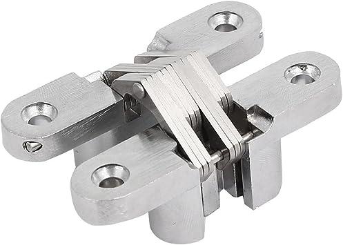 Aexit Gabinete Armario Puerta corredera Plegable Cruz oculta Bisagra Tono plateado 70 mm de largo (1d243576e6386a9c12e3ab88b77487e6): Amazon.es: Bricolaje y herramientas