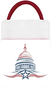 Hitecera Capitol Building icon - - Washington DC,Gift Bags with Handles,Grocery/Wrapping Storage Bags for Kids Capitol - Washington DC