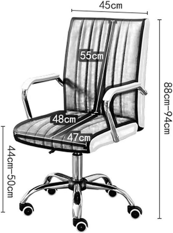 JU FU Multifonction Chaise pivotante, Chaise Ordinateur Intérieur Télésiège Chaise moderne simple Président de la Conférence 6 couleurs en option @@ (Color : E) E