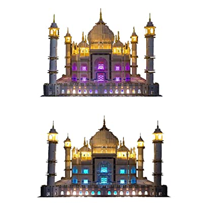Vonado Led Lighting Kit for Lego 10256 The Taj Mahal Model Building Blocks Bricks, Light Set Compatible Lego 10189 Toys Gifts to Children Friends(Only Lights): Toys & Games
