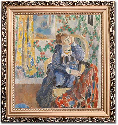 Ori Gallery Framed Canvas Print - Woman with The Yellow Necklace - by Rik Wouters