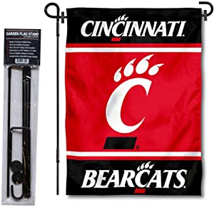 College Flags & Banners Co. Cincinnati Bearcats Garden Flag and Flag Stand Pole Holder Set