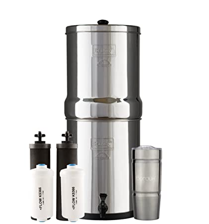 royal berkey water filter. ROYAL Berkey Water Filter System With 2 Black Purifier Filters (3 Gallons) Bundled Royal Y