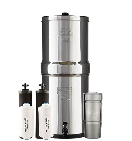 royal berkey water filter. Delighful Berkey Boroux ROYAL Berkey Water Filter System With 2 Black Purifier Filters 3  Gallons Bundled Inside Royal O