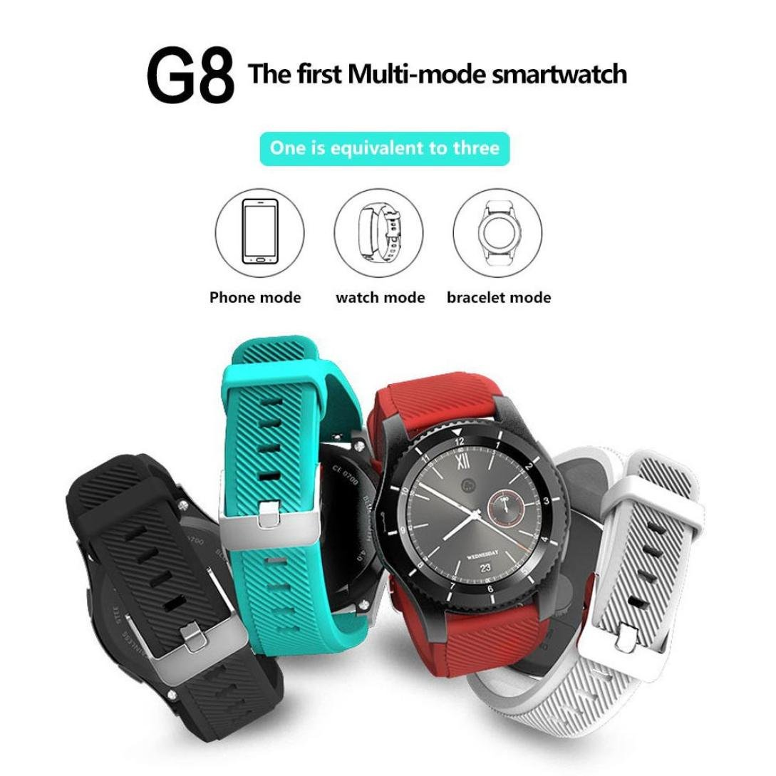 Amazon.com: G8 Smart Watch,Rucan Wrist Bluetooth Fashion New Camera Heart Rate For iOS Android (A): Cell Phones & Accessories