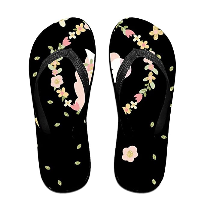 cce8821edb31 Amazon.com  Stylish Lightweight Women s Men s Personalized Beach Flip Flops  Unicorn1 Beach Slippers  Clothing