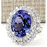 Sumanee Fashion Jewelry 925 Silver Sapphire Women Engagement Ring Proposal Size 6-10 (10)