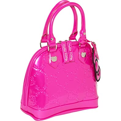 Hello Kitty Hot Pink Patent Embossed Mini Tote Bag  Amazon.co.uk  Shoes    Bags 8614da41ae8ad