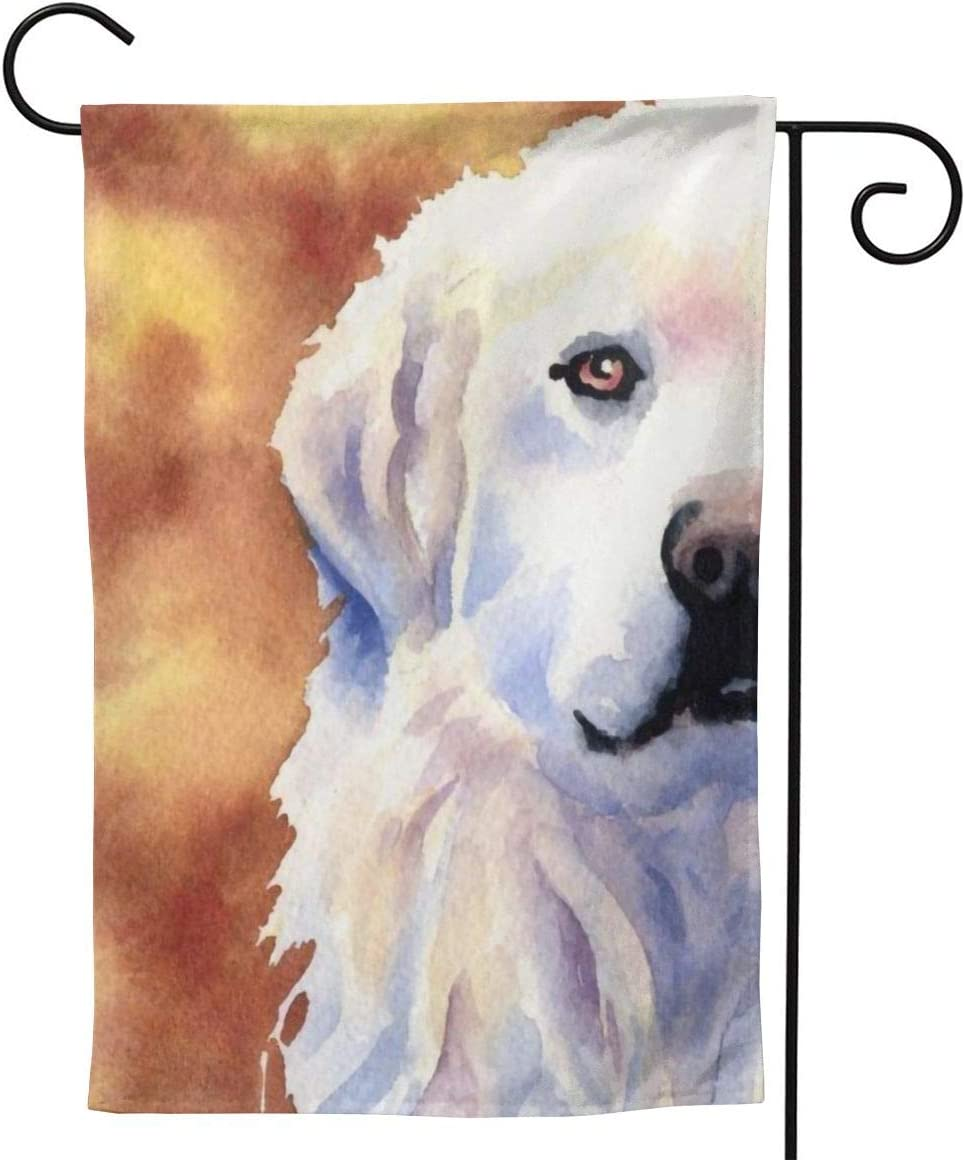 antcreptson Great Pyrenees Art Garden Flag 12.5 x 18 Inch Vertical Flag Garden Yard Lawn Outdoor Decoration