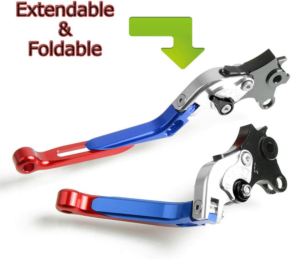 FXCNC Racing CNC Aluminum Short Adjustable Brake Clutch Levers for B.M.W S1000RR NOT the HP4 w and w//o CC 2004 2010-2014,B.M.W S1000R