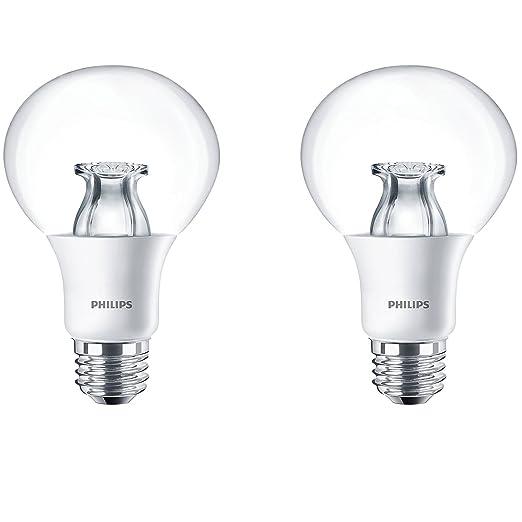 Philips regulable E26 10 W 2700 K blanco cálido 60 W Reemplazo LED Luz Bombilla,