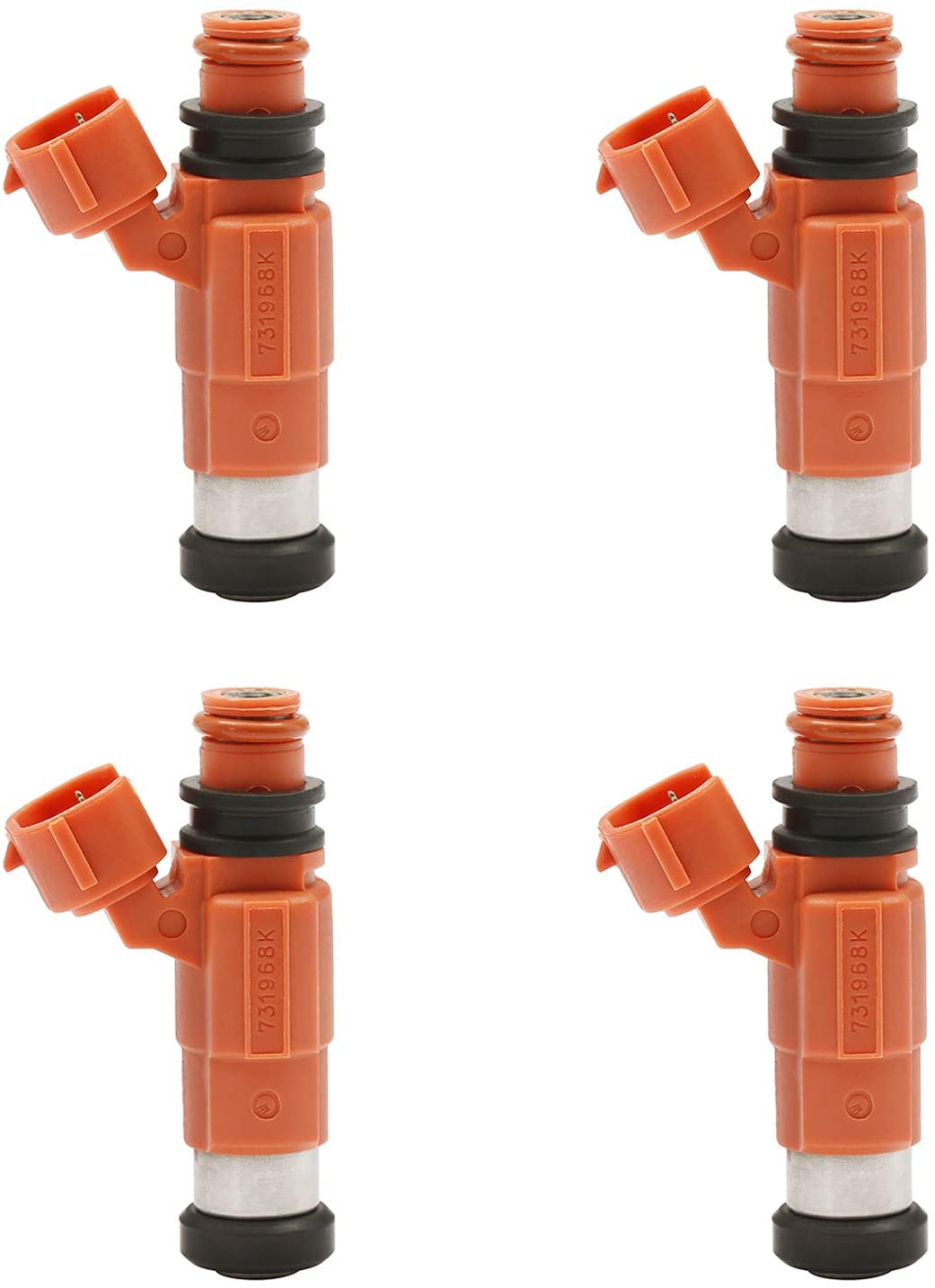 Fuel Injector 4 Holes 4Pcs | Replacement for Yamaha Outboard 115 HP Marine Mitsubishi Eclipse Galant Mirage Chrysler Dodge Suzuki | Replace# 68V-8A360-00-00, INP-771, CDH-210