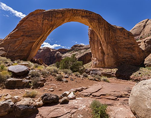Utah Nature Photography 11x14 Inch Nature Art Print Rainbow Bridge Arch Near Lake Powell Utah on a Hot Summers Day Unframed Print | Professionally Produced Poster Direct from The Artist (Lake Powell Print)
