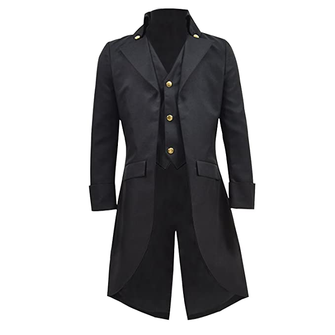Steampunk Kids Costumes | Girl, Boy, Baby, Toddler COSSKY Boys Gothic Tailcoat Jacket Steampunk Long Coat Halloween Costume $45.99 AT vintagedancer.com