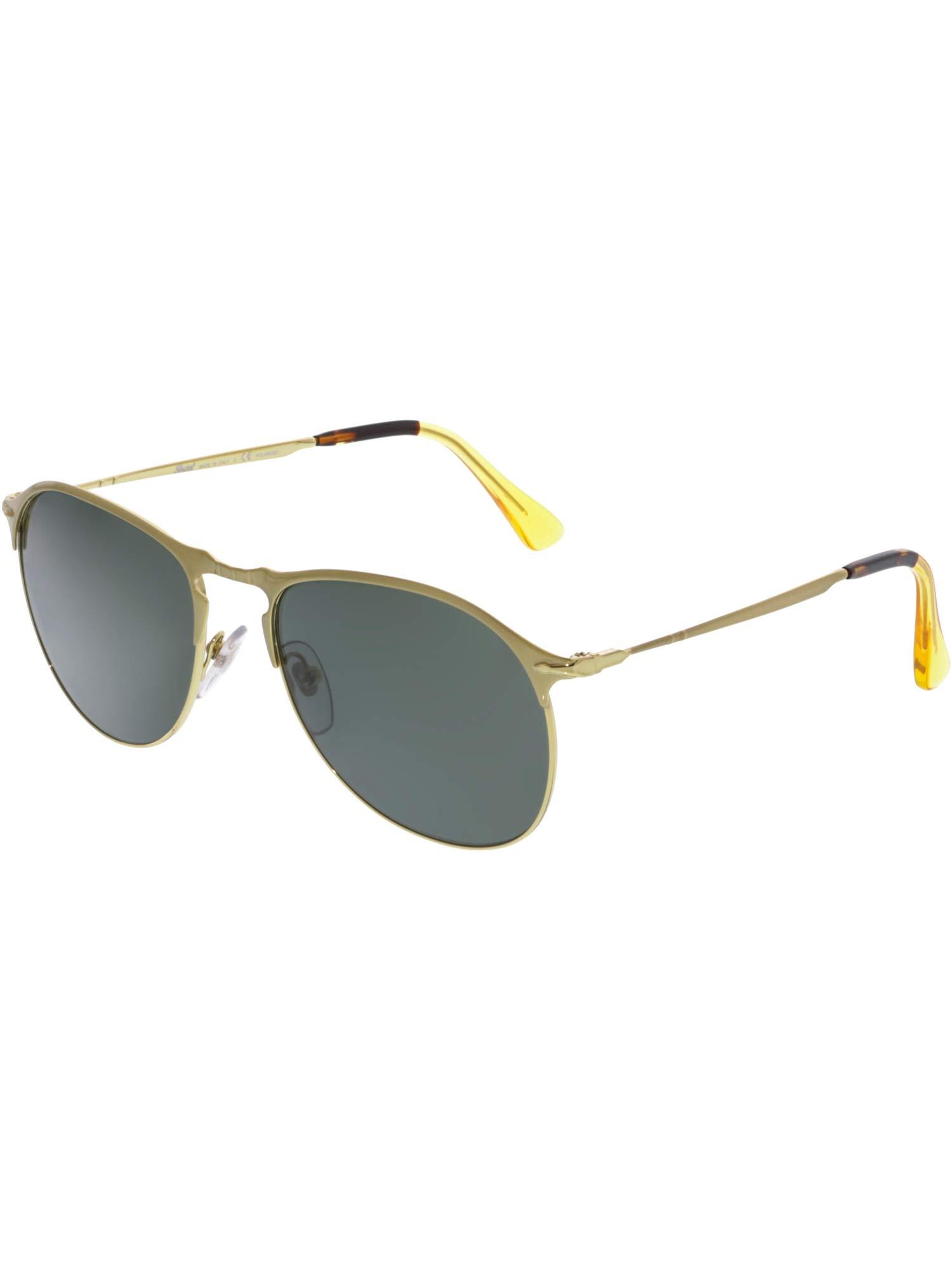 ویکالا · خرید  اصل اورجینال · خرید از آمازون · Persol Mens Sunglasses Gold/Green Metal - Polarized - 56mm wekala · ویکالا