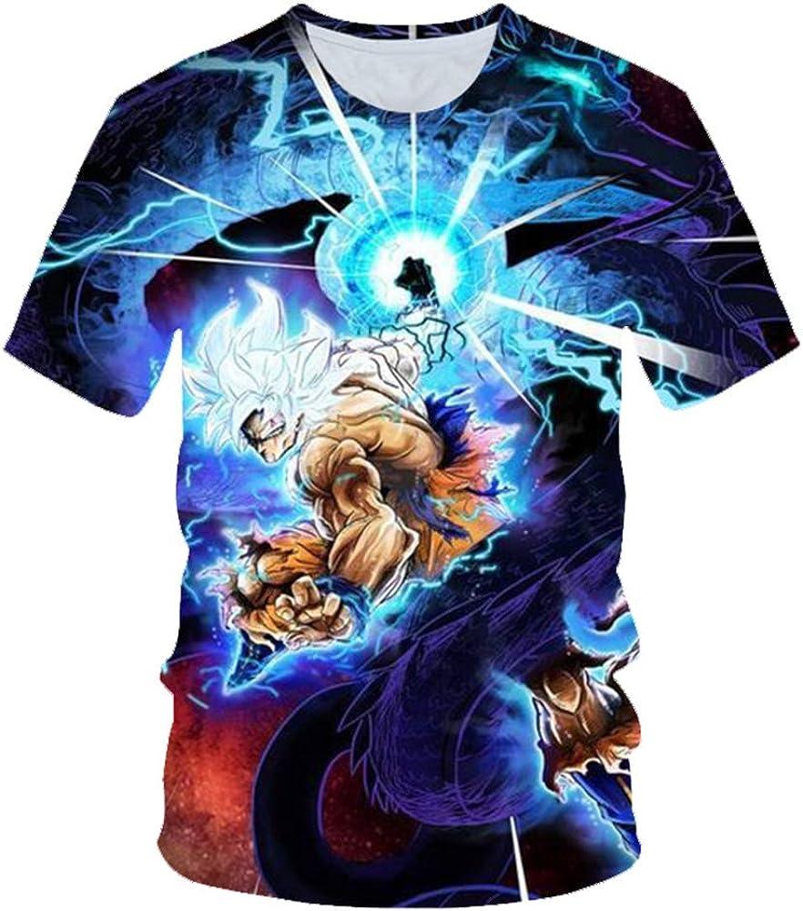 2019 Verano Nuevos Hombres y Mujeres Camiseta 3D Dragon Ball Z Ultra Instinct Goku Super Saiyan Dios Impreso Camiseta de Dibujos Animados Tamaño S-3XL: Amazon.es: Ropa y accesorios