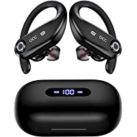 Bluetooth Headphones 4-Mics Call Noise Reduction 64Hrs Occiam Wireless Earbuds IPX7 Waterproof Over Ear Earphones with…