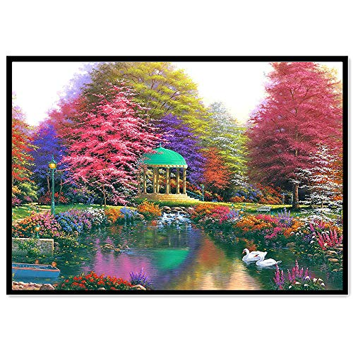 BeautyShe DIY 5D Diamond Painting by Number Kit for Adult, Full Drill Diamond Embroidery Dotz Kit Home Wall Decor-11.8 x 15 inch - Kit Stabilizer Graphite