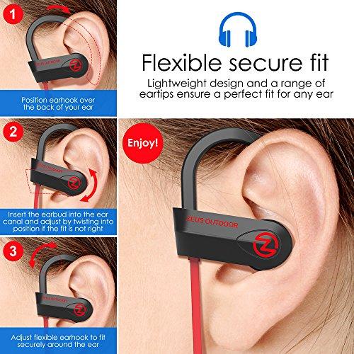 Bluetooth Headphones Wireless - Mens Womens Running Headphones - Best Sports Wireless Earbuds Earphones - IPx7 Wireless In-ear Headphones - Sport Bluetooth Headphones for Women Men (up to 10 Hours) - Image 4